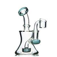 6.2inchs beaker Base Dab Rigs Hookahs Thick glass Water Bongs Cigarette Waterpipe Shisha Recycler Bong With 14mm banger
