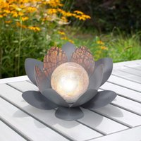 Lawn Lamps Solar Lotus Lamp Garden Lighting Decoration Outdoor Flower Decorative Flowers Landscape Warm White Dreamlike Decor