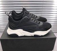 Nueva versión B22 Sneaker LOW-TOP LUXURYS DISEÑADORES Zapatos Blanco Negro Gris Técnico Malla Técnica Suave Calfskin Runner Sports B22 Vintage Chunky Sneakers
