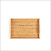 Dinnerware Kitchen, Dining Bar Home & Garden& Dishes Plates Wooden Bamboo Rectangar Serving Tray Kung Fu Tea Cutlery Trays Storage Pallet Fr