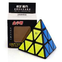 WINTOPCUBES QIMING 피라미드 3x3 큐브 스티커리스 매직 큐브 마술사 아이 장난감 고속 퍼즐 장난감 Mofangge 피라미드 속도 큐브