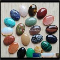 أخرى 20pcslot بالجملة 18x25 ملليمتر بيع الحجر الطبيعي مختلطة البيضاوي كابوشون دمعة الخرز للمجوهرات جعل J190626 56VRE 76GUR