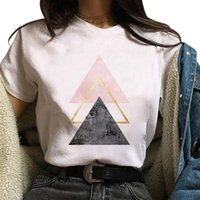 Beautiful Geometry Printed T Shirt Women 90s Graphic T-shirt Harajuku Tops Tee Cute Short Sleeve Animal Tshirt Female Tshirts D6 Women's