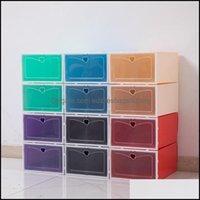 Boxes Housekee Organization Home & Gardenfoldable Shoe Box Transparent Plastic Shoes Rack Storage Bins Ders Combination Er Room Organizer Ha