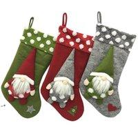 18 بوصة النجول عيد الميلاد زخرفة الجوارب جوارب ديكور أشجار حزب ديكورات سانتا تصميم HHE9819