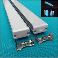 10-30pcs 40inch 1m LED 알루미늄 프로파일 27mm 스트립, W30mm * H16mm 슬림 플랫 프로파일, 선형 빛, 벽 세탁기 하우징 스트립
