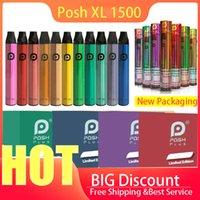 전자 담배 Posh Plus XL 1500 퍼프 일회용 포드 카트리지 사전 채워진 vape 포드 스틱 스타일 전자 담배 휴대용