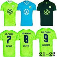 21 22 Vfl Wolfsburg كرة القدم جيرسي Whagorst Arnold 2021 Malli brekalo كرة القدم قميص mehmedi soccer قميص guilavogui xaver الفانيلة