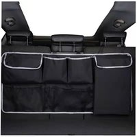 Backseat Storage Bag Nets In Car Trunk Organizer with multi pocket High Capacity Multi-use Oxford Cloth Suvs Hatchbacks Jeeps Organizers Cars Travel Storages bags