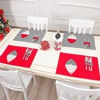 زينة عيد الميلاد الرئيسية تحديد الموقع عيد الميلاد الجدول حصيرة الأحمر والرمادي rudolph المستعار المستعار الحزب اللوازم owf9905