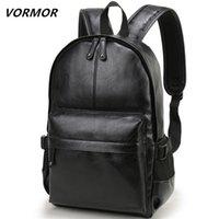 Vormor Brand Hommes Sac à dos En Cuir Sac Scolaire Sac Fashion Voyage Imperméable Voyage Casual Book Sac Mâle 210903
