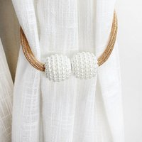 Other Home Decor Pearl Magnetic Curtain Clip Holders Tie Rope Accessory Ball Buckle Hook Holder Accessories Decoration