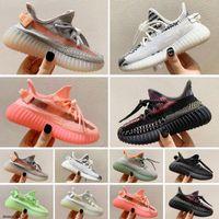 Adidas Yeezy 350 V2 Kid Running shoes  أطفال أحذية رياضية في الهواء الطلقالمدربين V2 كلاي الأسود الثلاثي أبيض أنطفلية الأطفال أحذية رياضية بنات بنات 25-35 يورو 25-35