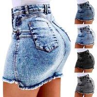 Frauenrock gewaschen Tassel Sexy Tasche Hüfte kurze Röcke Mode Casual Denim Shorts für Weibliche Sommer Jeans