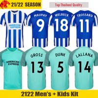 21 22 Brighton & Hove Albion camiseta de fútbol MAUPAY LALLANA DUNK CONNOLLY TROSSARD MODER Camiseta de fútbol hombre Kit niños