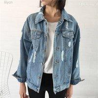 Women's Basic Coat Denim Jacket Women Autumn winter JWomen Jeans Jackets Loose Casual Outwear