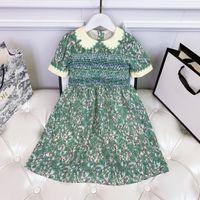 Girls's Flower Dresses Brand Designer Girl Gonna Gonna Peacock Color Dimensione 100-150