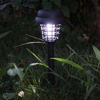 Mosquito Repellent Killer Lamp Solar Powered LED Light Mosquito Pest Bug Zapper Insect Killer Lamp Garden Path Lighting DDA6336