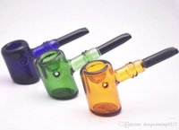 Colorful labs glass tobacco pipe for smoking Brand quality New arrival glass hammer hand pipe