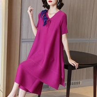 Women's Two Piece Pants Pant Suits For Women Plus Size 2021 Summer Stretch Loose Miyake Pleated 2PCS Set Fashion V Neck Short Sleeve Tops +