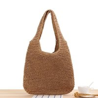 Evening Bags Fashion Rattan Women Shoulder Wikcer Woven Female Handbags Large Capacity Summer Beach Straw Casual Tote Purses 2021