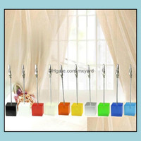 Favor Festive Supplies Home & Gardencandy Colorf Resin Place Card Decoration Aessories Holder Table Number For Wedding Event Party Christmas
