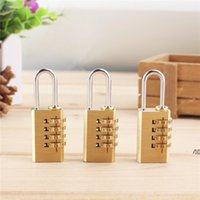 4 Digit Dial Brass Password Code Lock Mini Combination Suitcase Luggage Bag Metal Padlock Sports Locke Toolbox Case DWB7293