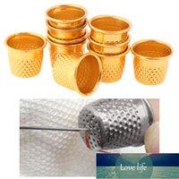 10pcs 실버 골드 컬러 바느질 Thimbles 금속 손가락 보호 도구 DIY 공예 액세서리