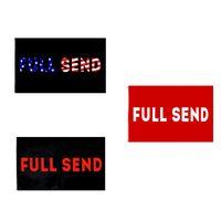 Vermelho Black Full Enviar Bandeira Retail Fábrica Direta Atacado 3x5fts 90x150cm Poliéster Banner Indoor Outdoor Usage Canvas Cabeça com Metal Grommet