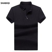 Shabiqi camisa de los hombres de alta calidad para hombre de manga corta camisas sólidas Camisa Polos Mas Culina Casual algodón verano manga corta hombre