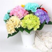 Simüle ortanca ortanca parçaları hidranga tek dalı ipek çiçek düğün gelin holding çiçek düzenleme ortanca AYA397