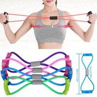 8 palavras fitness cordas ioga fitness resistência faixas de peito expansão corda treino muscular elástico para exercício treinamento