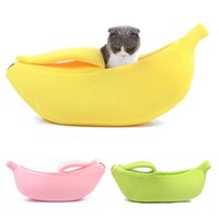 Cat Beds & Furniture Funny Banana Bed House Cute Cozy Mat Warm Durable Portable Pet Basket Kennel Dog Cushion Supplies 4 Colors