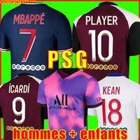 PSG 20 21 futbol formaları 2020 2021 Paris aziz germain mayo NEYMAR JR MBAPPE forması Survetement futbol takımı futbol gömlek kadın futbol forması dördüncü 4.