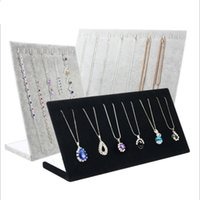 Necklace Bracelets Stand Display Full Velvet Jewelry Rack Showing Stand Storage Different Colors Show Shelf Wholesale 2266 Q2