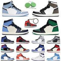 1 ثانية أحذية كرة السلة الرجال النساء jumpman 1 retro جامعة بلو الظلام mocha توربو أخضر تويست رجل مدرب