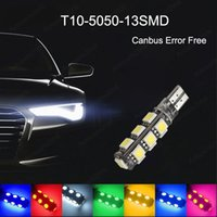 50Pcs Lot T10 W5W 5050 13SMD LED Car Bulbs Canbus Error Free 194 168 2825 Clearance Lamps Reading License Plate Lights 12V