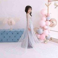 Снег и лед 2 принцесса Aisha хвост длинная юбка девушка иностранное платье Хэллоуин детское платье