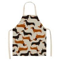 Мультфильмы Напечатанные животные Собаки Кухонные фартуки Европейский стиль Унисекс приготовление пищи для выпечки OWE8351