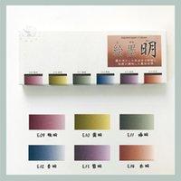 Gift Sets 2021 Pearlescent 6 Colors 1ml Aliquot Solid Color Watercolor Paint Art Supplies For Artist Water Set CN(Origin)