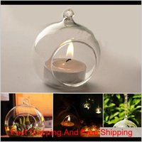 Holders Décor Garden Hanging Candle Holder Candlestick Home Wedding Party Dinner Decor Round Glass Air Plant Bubble Crystal Balls Drop