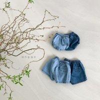 LZL Ins Yaz Kore Avustralya Kalite Toddler Çocuklar Küçük Kızlar Şort Bebek PP Pantolon Ekose Kot Bloomers