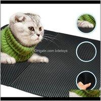 Beds Furniture Supplies Home & Gardencat Waterproof Eva Double Layer Folden Cat Litter Mat Trapping Pet Box Mats Pad For Cats Aessories Drop