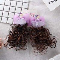 2021 Новые очаровательны для волос для волос для волос девочек детские фотографии фото парик лук волос для волос девушки боковой клип принцесса парик аксессуары для волос