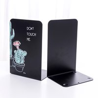 Custom Metal L-Shaped Bookend, Book Stand Secretária Acessórios Fornecer Design Projeto de Desenho Personalização Personalizado Full-Impressão Bookshelf Armazenamento de Desktop