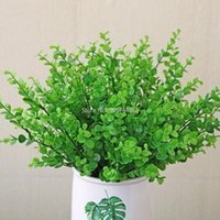 Simulation Plastic Eucalyptus Money Grass Plant Wall Fake Flower Green Potted Decoration Decorative Flowers & Wreaths