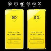 9D Glass 9H Full Cover Coverage Tempered Glass for iPhone 12 11 Pro Max XS XR X 6 7 8 Plus Samsung A11 A21 A51 A71 LG K51S K61S Moto G9