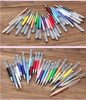 Ballpoint Pens Creative DIY Blank Pen Student Glitter writing Colorful Crystal Ball pens custom ! OR6S
