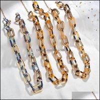 Pendant & Pendants Jewelry Leopard Print Chain Necklace Bohemian Chunky Long Collar Choker Necklaces For Women Bijoux Fashion Boho Jewelry D