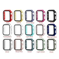 360 Full Screen Protector Cases For apple watch 38mm 42 mm 40mm 44mm With Tempered Glass Film 5 4 3 2 1 Case Cover